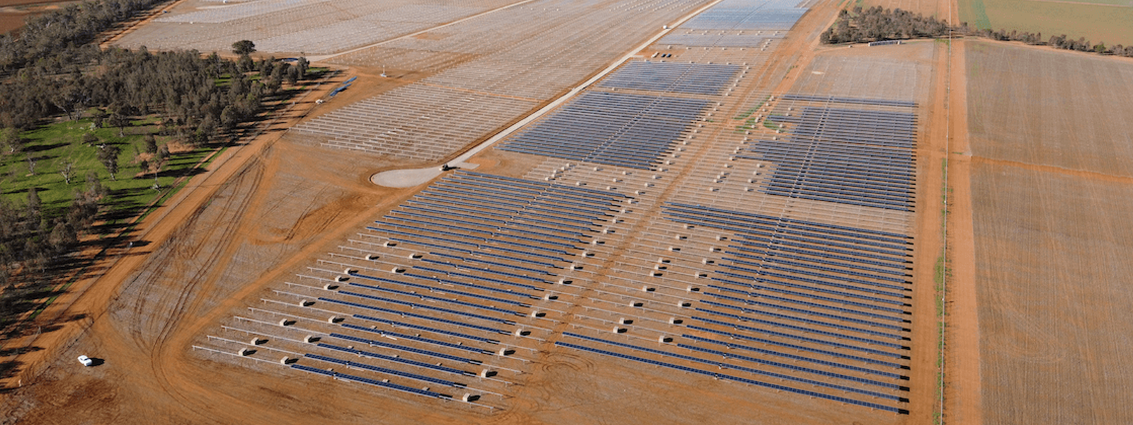 Junee Solar Farm Pilecom New South Wales Aerial view