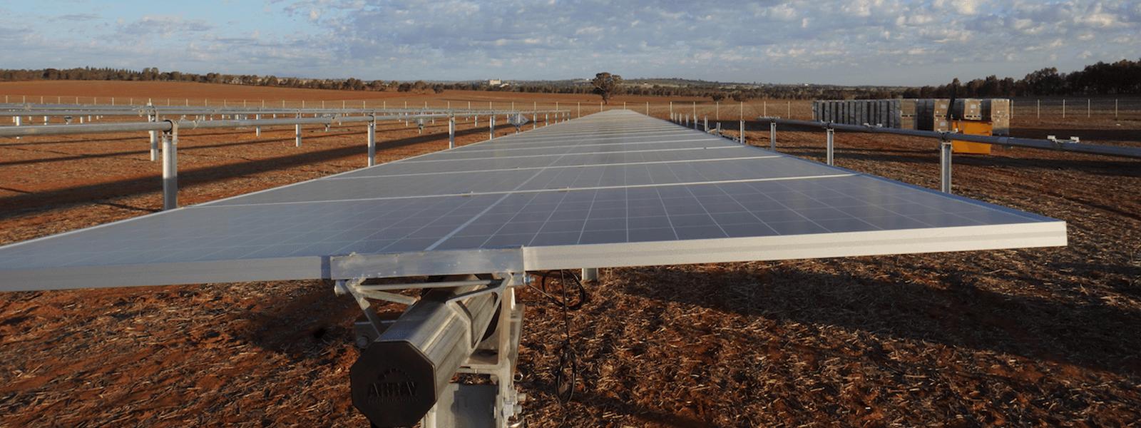 Junee Solar Farm Pilecom New South Wales Solar Panel