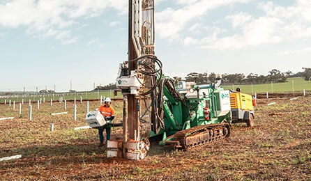 hard rock drilling piling equipment